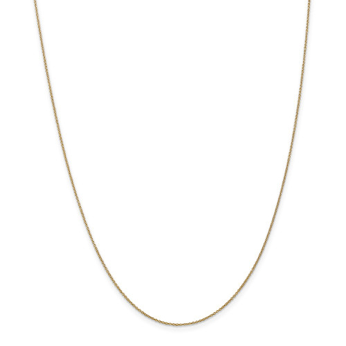 14k Yellow Gold .9mm Cable Chain 14inch PEN190L-14