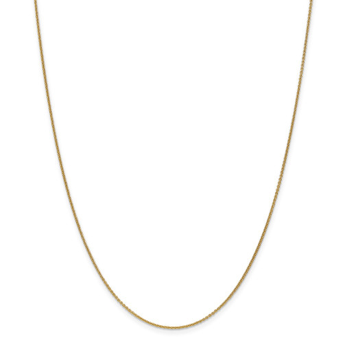 14k Yellow Gold 1mm Cable Chain 14inch PEN53-14