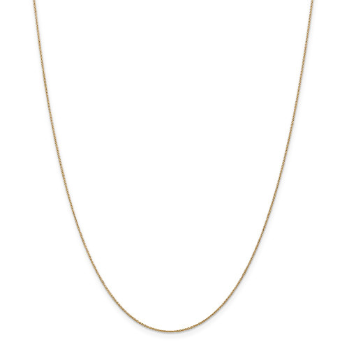 14k Yellow Gold .75mm Solid Polished Cable Chain 14inch PEN135-14