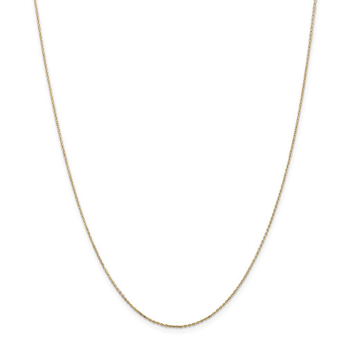 14k Yellow Gold .8mm D/C Cable Chain 14inch PEN41L-14