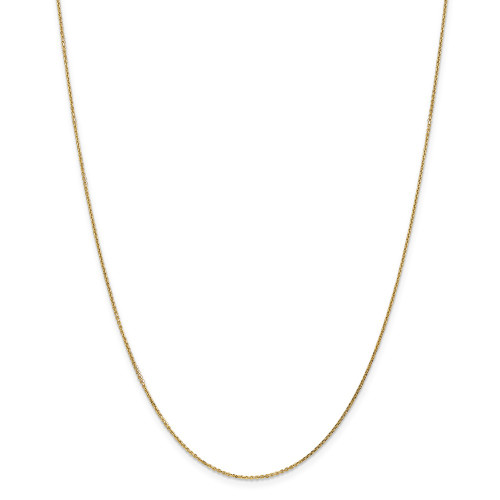 14k Yellow Gold .95mm D/C Cable Chain 14inch PEN17-14
