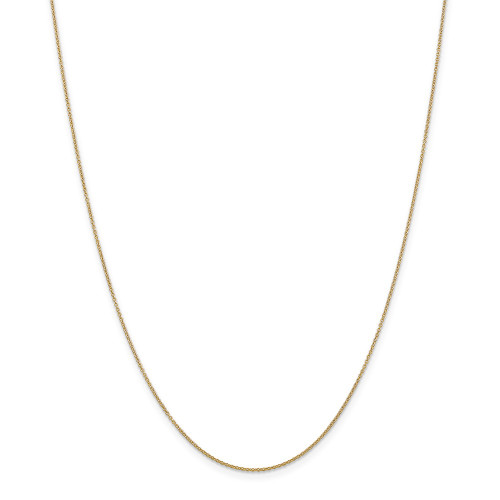 14k Yellow Gold .9mm Cable Chain 14inch PEN190-14