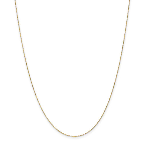 14k Yellow Gold .8mm D/C Cable Chain 14inch PEN41-14