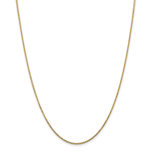 14k Yellow Gold 1.45mm Solid D/C Cable Chain 14inch PEN140-14