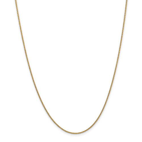 14k Yellow Gold 1.5mm Cable Chain 14inch PEN54-14