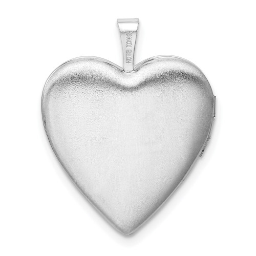 """Sterling Silver """"I love you to the moon and back"""" Diamond Heart Locket - QLS820"""