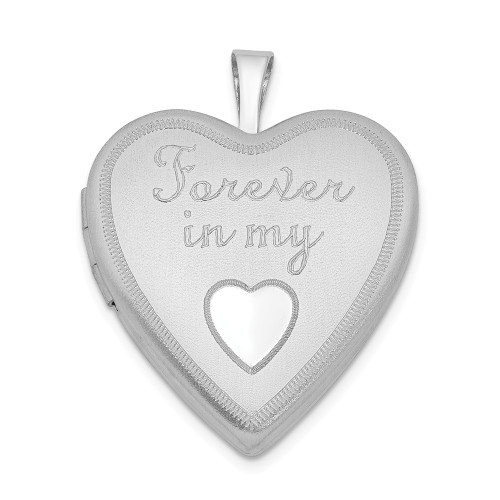 Sterling Silver Forever In My Heart Locket - QLS315