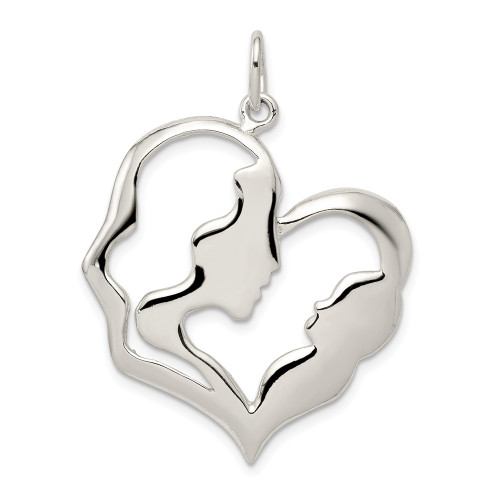 Sterling Silver Mother And Baby Pendant - QC1609