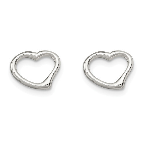 Sterling Silver Open Heart Earrings - QE4755