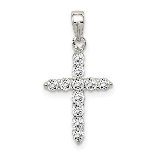 Sterling Silver Cubic Zirconia (CZ) Cross Pendant QC5337