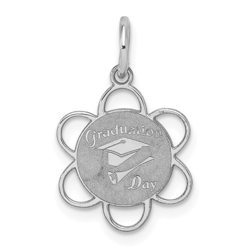 Sterling Silver Graduation Day Disc Charm QC2416