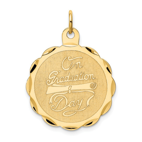 14k Yellow Gold Graduation Day With Diploma Charm XAC699
