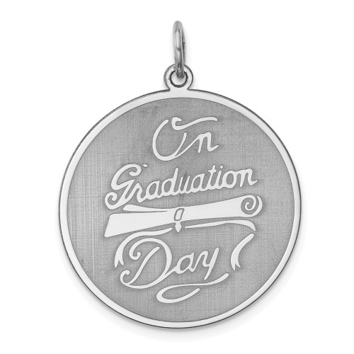 Sterling Silver On Graduation Day Disc Charm QC2440