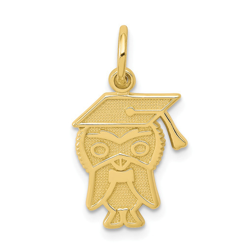 10k Yellow Gold Owl with Cap Graduation Charm 10C705