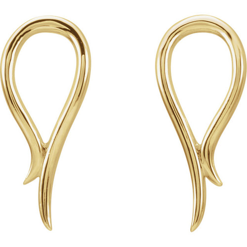14K Yellow Gold Freeform Earrings 87069:601:P
