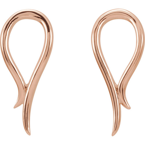 14K Rose Gold Freeform Earrings 87069:602:P