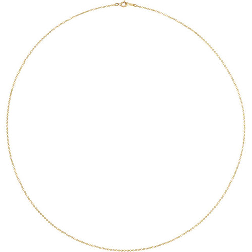 14K Yellow Gold 1mm Solid Cable Chain CH132