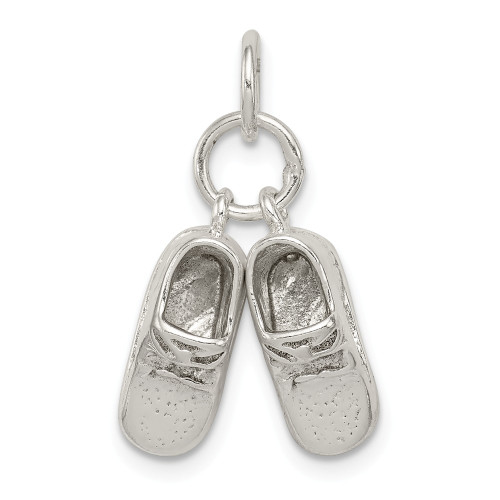 Sterling Silver Baby Shoes Charm QC5