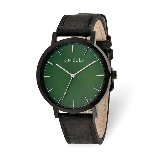 Chisel Matte Black IP-Plated Green Dial Watch TPW127