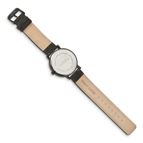 Chisel Matte Black IP-Plated Black Dial Watch TPW126
