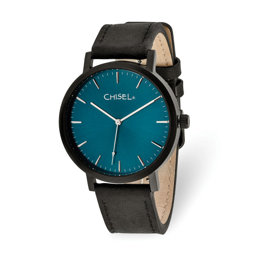 Chisel Matte Black IP-Plated Blue Dial Watch TPW124