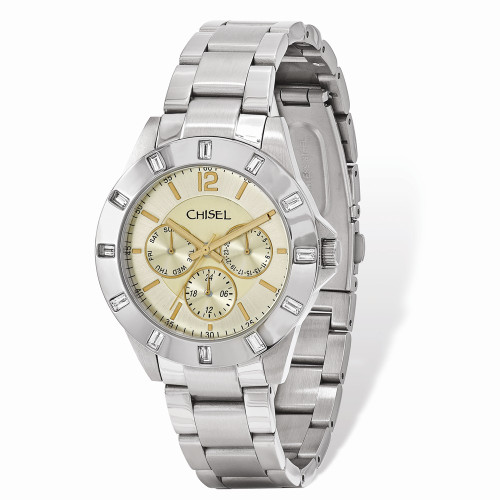 Mens Chisel Stainless Steel Champagne Dial Watch TPW100