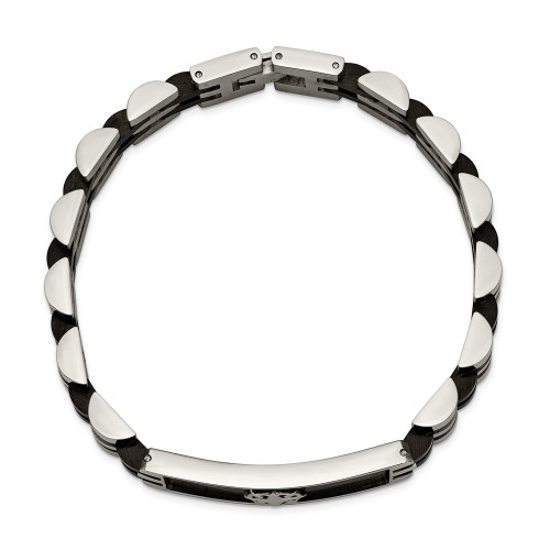 Chisel Stainless Steel Black IP-Plated 8.25in ID Bracelet SRB2380-8.25