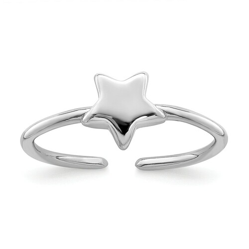 Sterling Silver Star Toe Ring QR7162