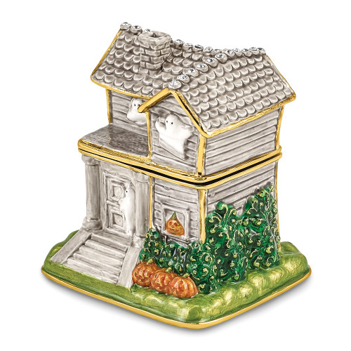 Bejeweled VACANCY Haunted House With Ghosts Trinket Box