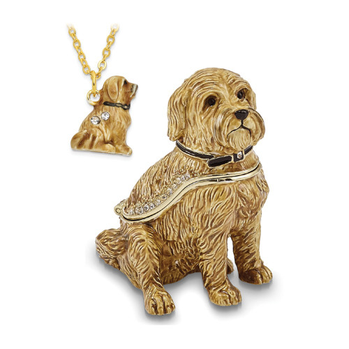 Bejeweled RILEY Wheaten Terrier Trinket Box BJ2167
