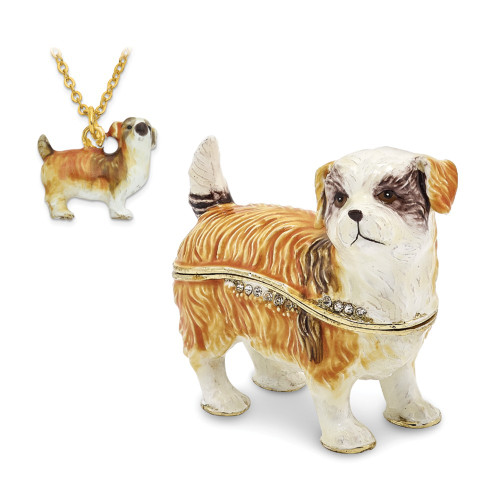 Bejeweled SALLY Shih Tzu Trinket Box BJ3044
