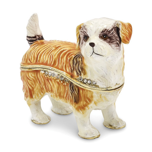 Bejeweled SALLY Shih Tzu Trinket Box