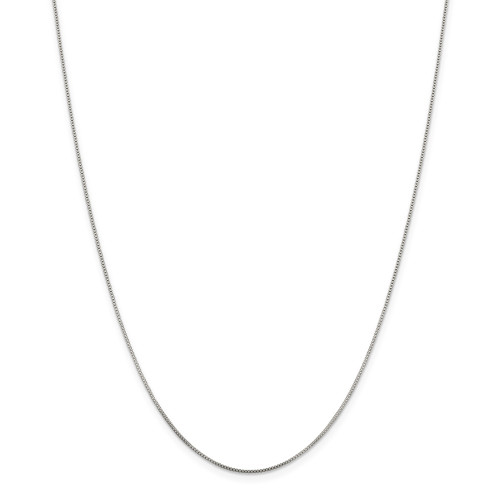 Sterling Silver .8mm Box Chain - 20 Inch - QBX015-20