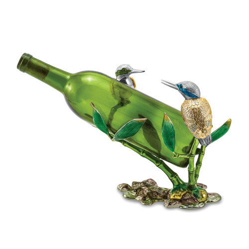 Bejeweled Crystal Enameled 2 Hummingbird Bottle Holder BJ4084