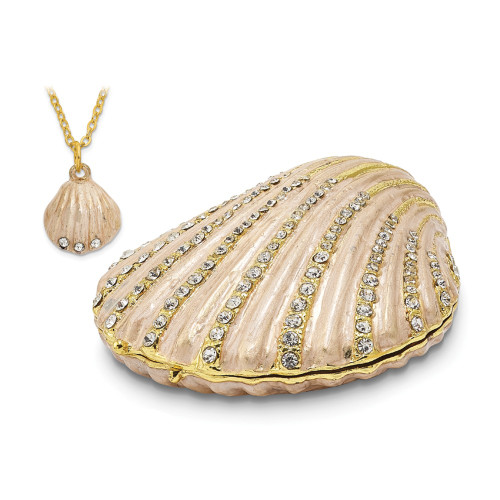 Bejeweled PINKY Clam Shell Trinket Box BJ2028
