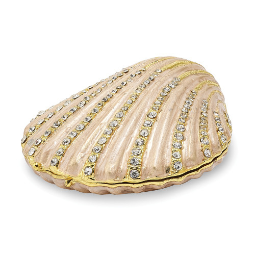 Bejeweled PINKY Clam Shell Trinket Box