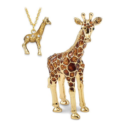 Bejeweled GRACIE Gentle Giraffe Trinket Box BJ2004