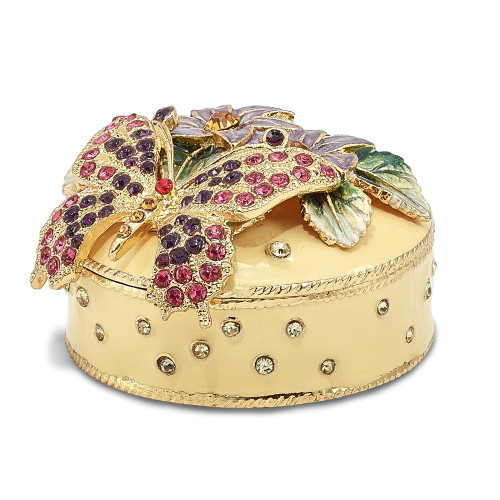 Bejeweled FLORIAN Butterfly And Floral Box Trinket Box BJ2027