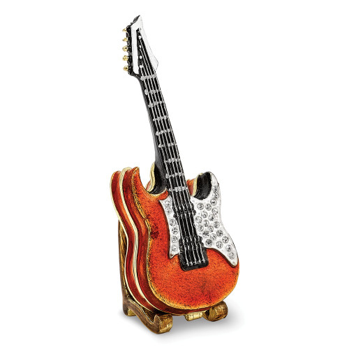 Bejeweled STRUMMIN' TUNES Red Guitar Trinket Box BJ2250