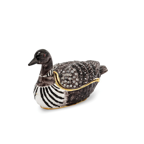 Bejeweled CARLO Loon Duck Trinket Box BJ3051