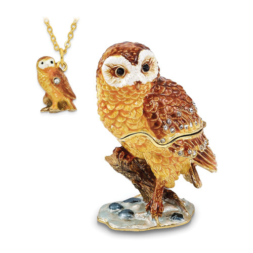 Bejeweled MR. WHOO Barn Owl Trinket Box BJ3072