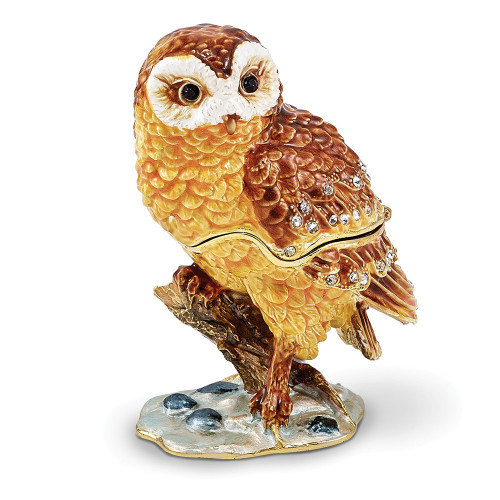 Bejeweled MR. WHOO Barn Owl Trinket Box