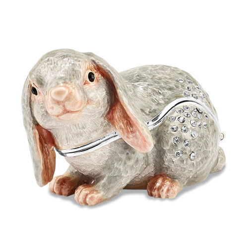 Bejeweled PHOEBE Floppy Ear Bunny Trinket Box BJ4012