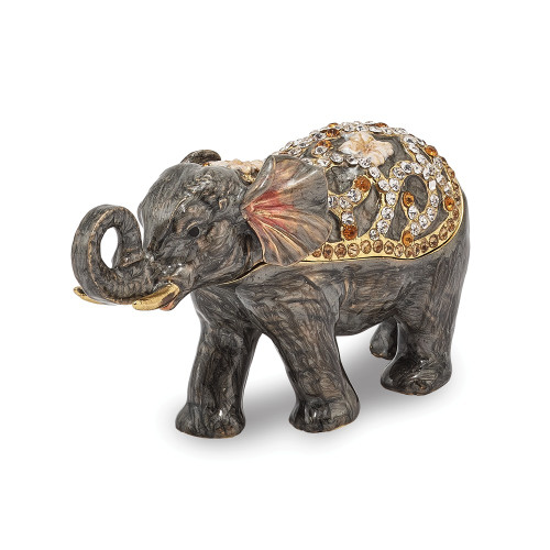 Bejeweled PRINCESS JAIPUR Elephant Trinket Box