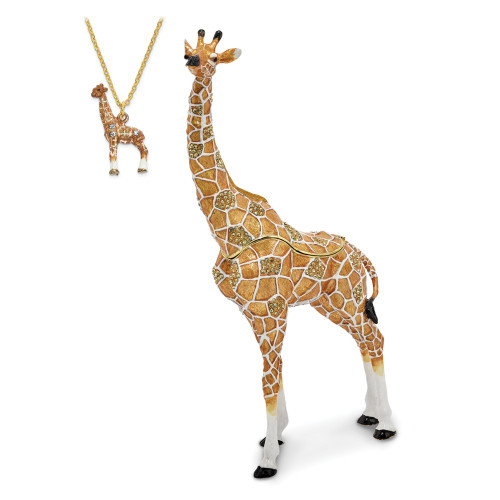 Bejeweled ELLISON Elegant Giraffe Trinket Box BJ2142
