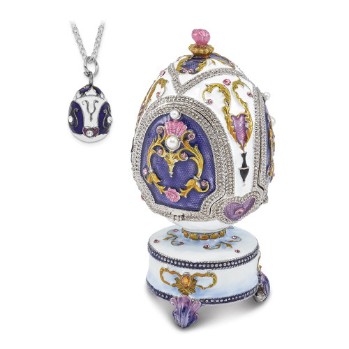 Bejeweled MERRY-GO-ROUND Carousel (It's A Small World) Music Egg BJ2105