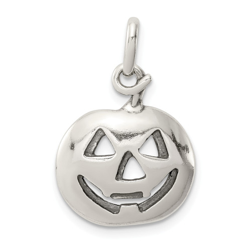 Sterling Silver Halloween Pumpkin Charm QC7577