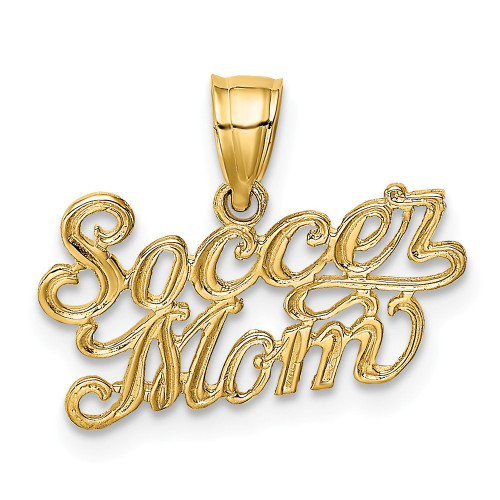 14k Yellow Gold Soccer Mom Charm K3582