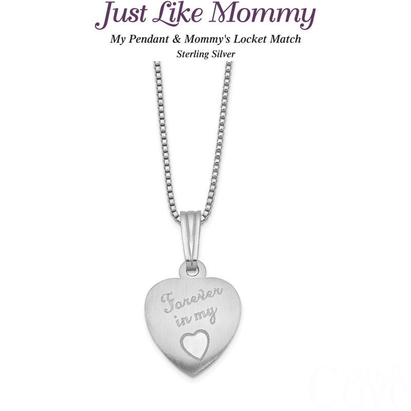 Just like Mommy - Sterling Silver Forever In My Heart Locket and Pendant QLS455SET