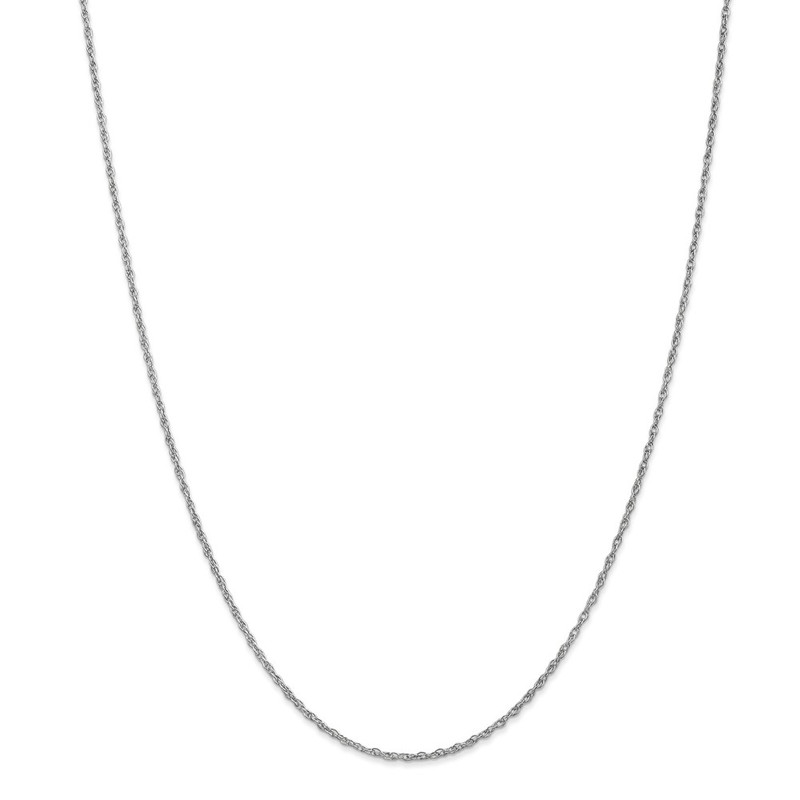 10k White Gold 1.3mm Heavy-Baby Rope Chain Necklace
